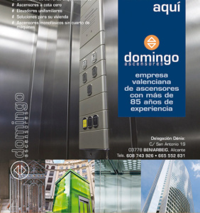 Flyer de Ascensores Domingo para Denia